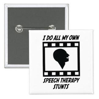 Speech Therapy Stunts 15 Cm Square Badge