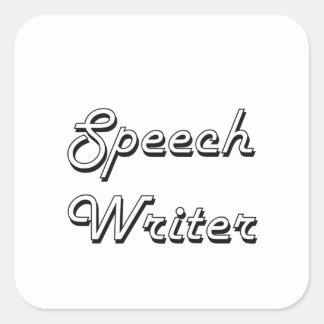 Speech Writer Classic Job Design Square Sticker