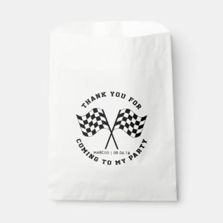 Speed and Adventure Race Birthday Favour Bag