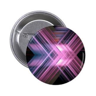 Speed blur cross 6 cm round badge