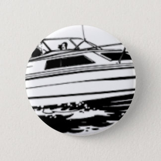 Speed Boat Cruiser 6 Cm Round Badge