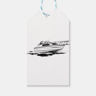 Speed Boat Cruiser Gift Tags