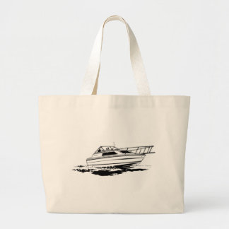 Speed Boat Cruiser Large Tote Bag