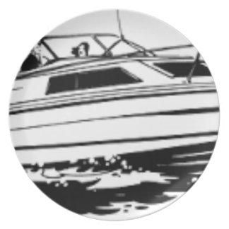 Speed Boat Cruiser Plate