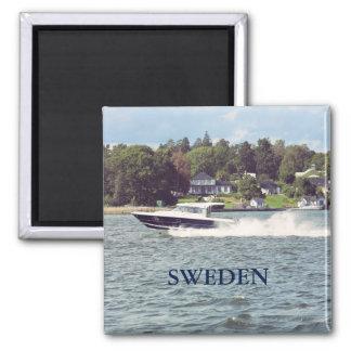 Speed boat in Stockholm Magnet