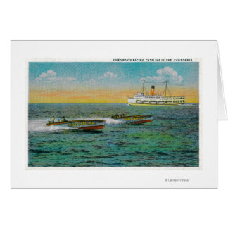 Speed Boating in Catalina Island, California Card