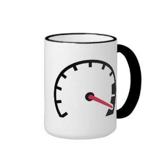 Speed car speedometer coffee mug