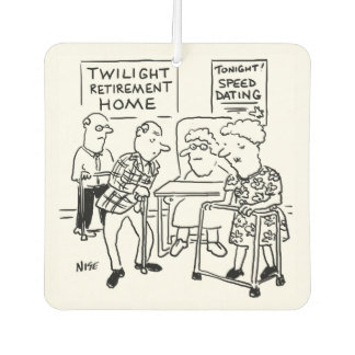 Speed Dating at the Care Home Car Air Freshener