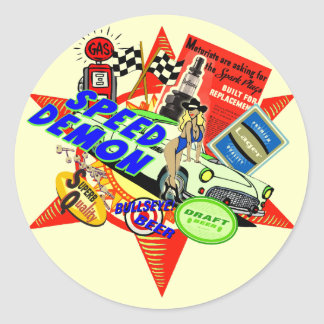 Speed Demon Baby Boomer Classic Round Sticker