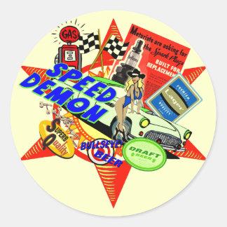Speed Demon Baby Boomer Round Sticker