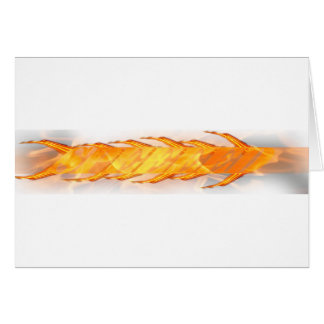 Speed fire greeting card