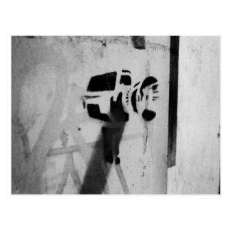 speed gun camera graffiti art postcard