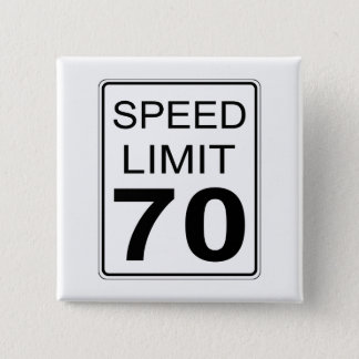 Speed Limit 15 Cm Square Badge