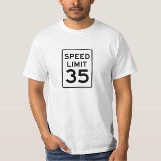 Speed Limit 35 MPH Sign T-Shirt