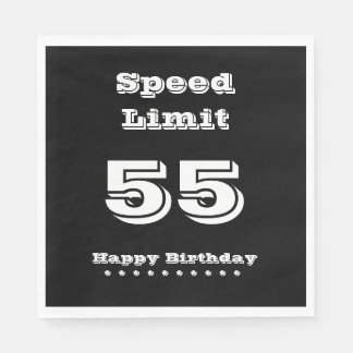 Speed Limit 55/Happy Birthday - Paper Napkin