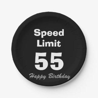 Speed Limit 55/Happy Birthday - Paper Plates