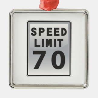 Speed Limit 70 sign Ornament