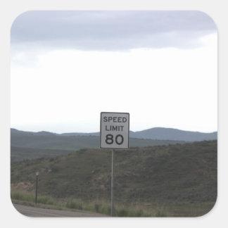 Speed Limit 80 Stickers