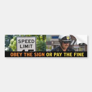 Speed Limit Bumper Sticker