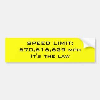 Speed limit car bumper sticker