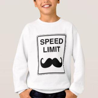 Speed Limit Mustachio Sign Sweatshirt