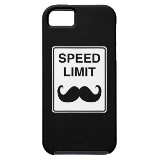 Speed Limit Mustachio Sign Tough iPhone 5 Case