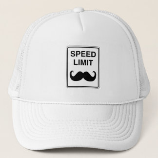 Speed Limit Mustachio Sign Trucker Hat