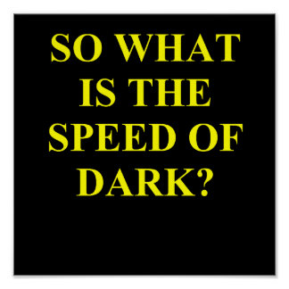speed of dark. poster