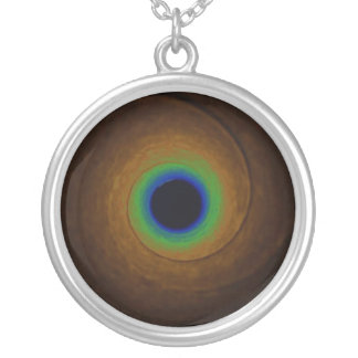 Speed of Light Round Pendant Necklace