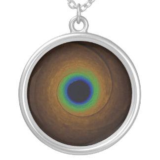 Speed of Light Round Pendant Necklace