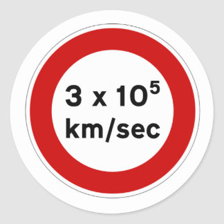 Speed of Light Sign Sticker