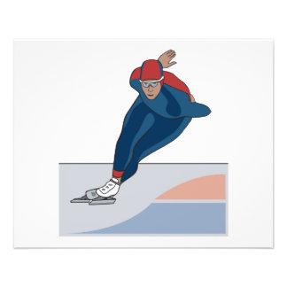 speed skater 11.5 cm x 14 cm flyer