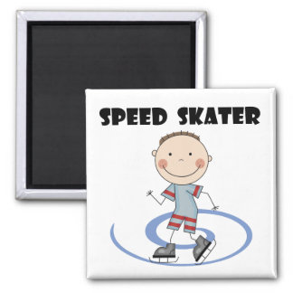 Speed Skater - Boy Tshirts and Gifts Fridge Magnets