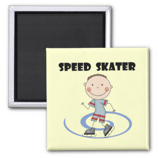 Speed Skater - Boy Tshirts and Gifts Square Magnet