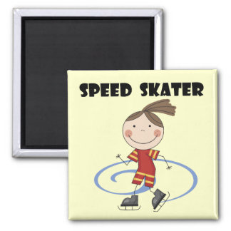 Speed Skater Female Tshirts and Gifts Refrigerator Magnets