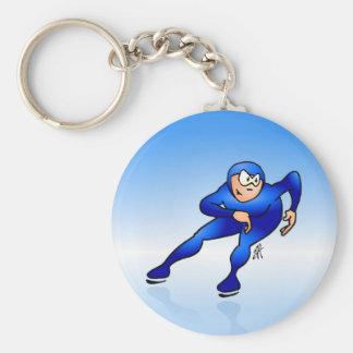 Speed skater key ring