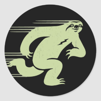 Speed Sloth Classic Round Sticker