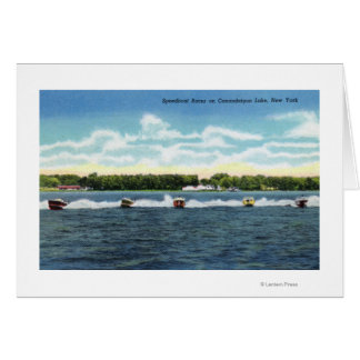 Speedboat Races on the Lake Greeting Card