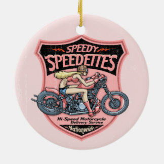 Speedettes Ceramic Ornament