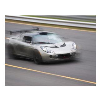 Speeding Sports Car Custom Flyer