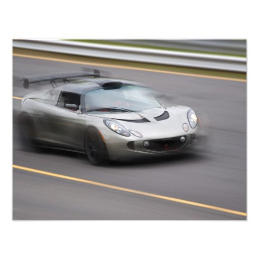 Speeding Sports Car Personalized Invitations