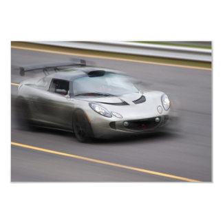 Speeding Sports Car 3.5x5 Paper Invitation Card