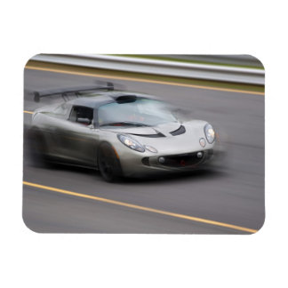 Speeding Sports Car Magnet