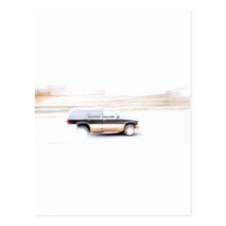 Speeding SUV Truck Postcard