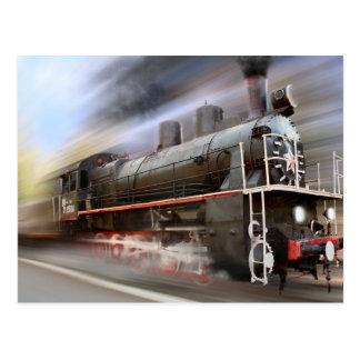 Speeding Train Post Card
