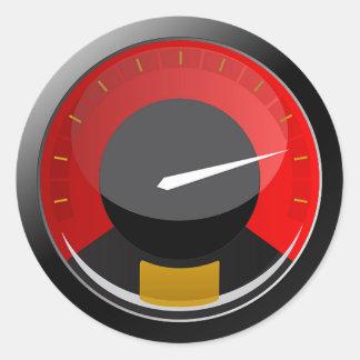 Speedometer Classic Round Sticker