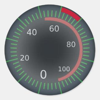 Speedometer Classic Round Sticker, Glossy Classic Round Sticker