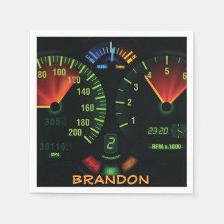Speedometer Design Paper Napkins Disposable Serviette
