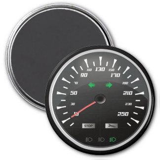 Speedometer for Nerd Geeks 7.5 Cm Round Magnet