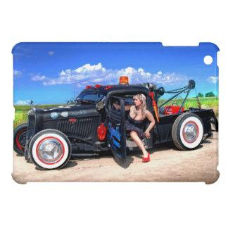 Speeds Towing Rat Rod Truck Pin Up Girl iPad Mini Cases